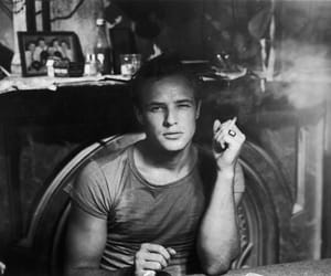 marlon brando, black and white, and vintage image