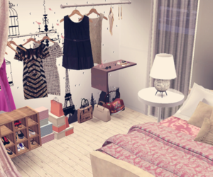 bedroom, clutter, and the sims 3 image