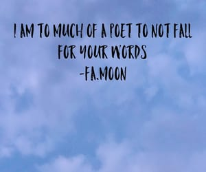 falling in love, moon, and quotes image