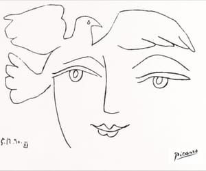 picasso, art, and drawing image