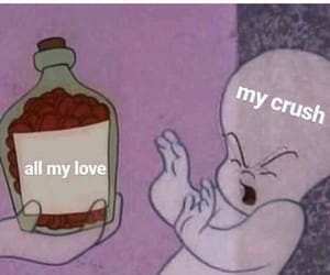 meme, crush, and love image