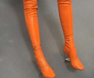 boots, orange, and aesthetic image