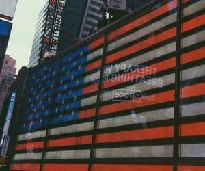 flag, manhattan, and new york image