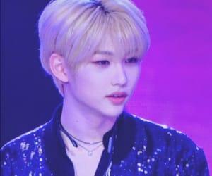 black, blonde hair, and idol image
