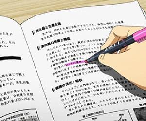 anime, gif, and study image