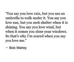 bob marley, rain, and quotes image