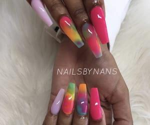 acrylic, marble nails, and nail ideas image