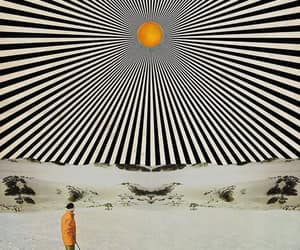 Collage and psychedelic image