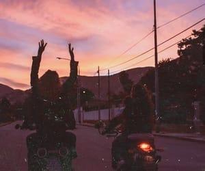 sunset, grunge, and aesthetic image