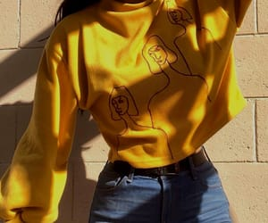 yellow, style, and outfit image