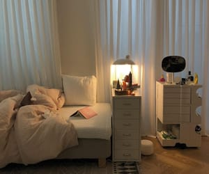bedroom, aesthetic, and bed image