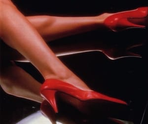 red, red heels, and retro image