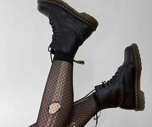aesthetic, gothic, and combat boots image