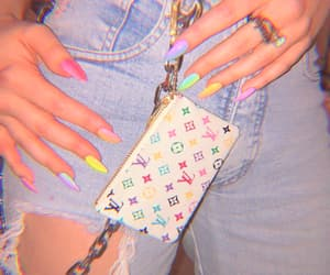 nails, aesthetic, and denim image