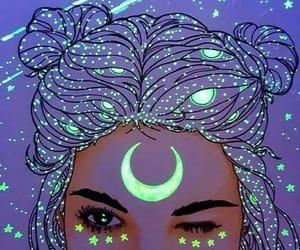 moon, aesthetic, and art image