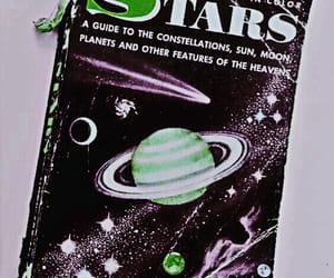 book, stars, and vintage image