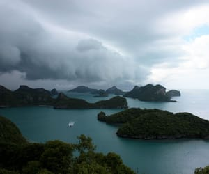 nature, clouds, and ocean image