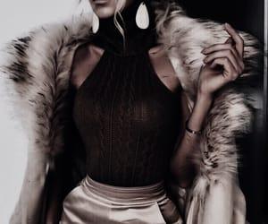 classy, jewelry, and coat image