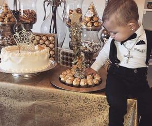 baby boy, birthday boy, and gold image