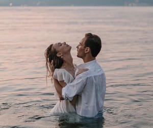 sea, water, and love image