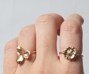 boho, etsy, and gold plated ring image