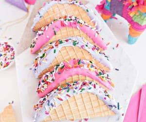 ice cream and ice cream taco image