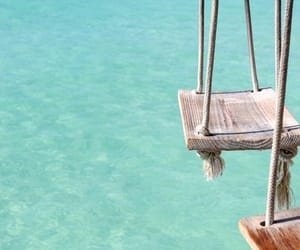 summer, swing, and sea image