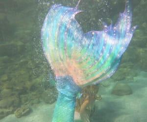 mermaid, aesthetic, and rainbow image