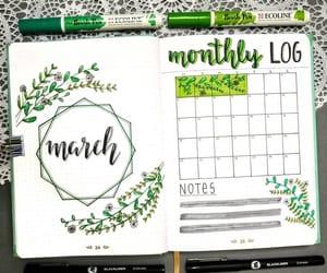 art, calendar, and green image