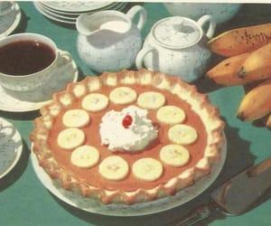 bananas, cake, and coffee image