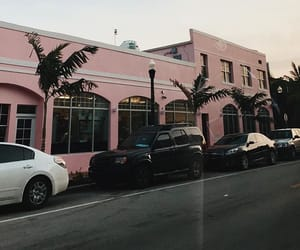 car, Miami, and pink image
