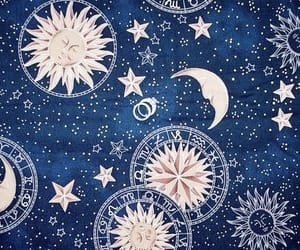 moon, stars, and blue image