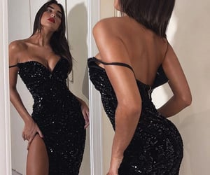 black, dress, and Hot image