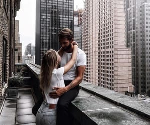 couple, city, and Relationship image