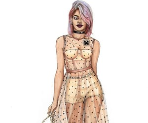 drawing, dress, and fashionista image