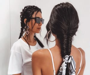 hairstyle, summer, and fishtail braid image