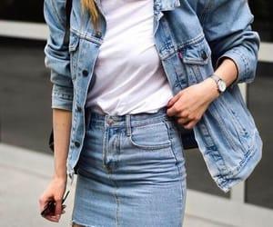 denim, jacket, and skirt image