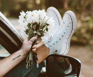 flowers, style, and converse image