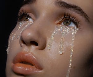 aesthetic, tears, and glitter image