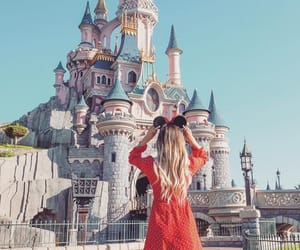aesthetic, castle, and disney land image