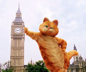 garfield, london, and cat image