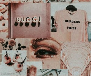 wallpaper, gucci, and pink image