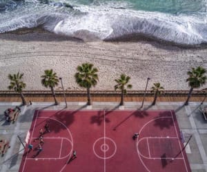 beach, sea, and Basketball image