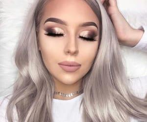 beauty, girl, and grey image