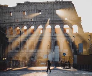 beauty, light, and rome image
