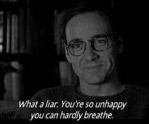 unhappy, liar, and sad image