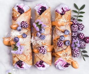 food, dessert, and purple image