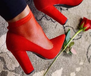 fashion, feet, and flower image