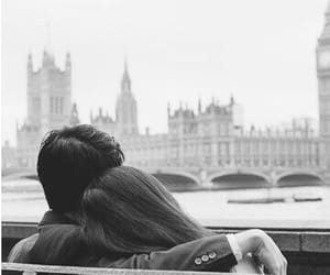 love, couple, and london image