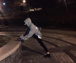 dark, jogging, and night image